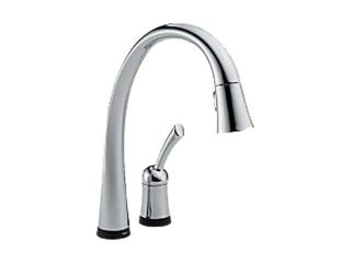DELTA 980T DST Pilar Single Handle Pull Down Kitchen Faucet with Touch2O Technology Chrome  Kitchen Faucet