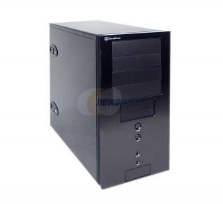 SilverStone Temjin Series TJ 04 Black Aluminum Front Panel/0.8 SECC Body ATX Mid Tower Computer Case