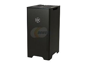 SILVERSTONE Black Aluminum / Steel Fortress Series SST FT03B MINI Mini ITX Media Center / HTPC Case