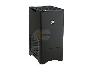 SilverStone Fortress Series FT03B Black Aluminum / Steel MicroATX Mini Tower Computer Case