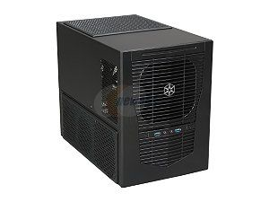 SilverStone Sugo Series SG09B Black Steel / Plastic MicroATX Mini Tower Computer Case