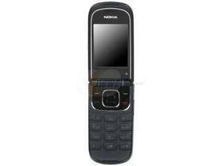 Nokia 3710 fold Black Unlocked GSM Flip Phone with A GPS
