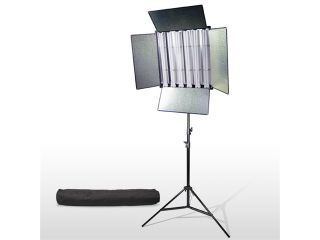 LoadStone Studio 1650 Watt Fluorescent Light Panel + Heavy Duty Air Cushion Spring Studio High Output Light Stand + Convenient Premium Carry Bag