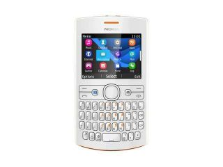 Nokia Asha 205 Orange/White Stereo FM Radio Bluetooth Unlocked GSM Cell Phone                                                                                                                                                                      All Unloc