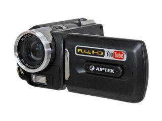 "AIPTEK AHD H350 (PHD21X) Black 5 Mega Pixel CMOS 3.0"" LCD 5X Optical Zoom Full HD Camcorder"