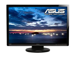 "ASUS VW266H Black 25.5"" 2ms(GTG) HDMI Widescreen LCD Monitor 300 cd/m2 1000:1 (ASCR 20000:1) Built in Speakers w/ component connector"