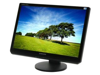 "SAMSUNG 2220WM HAS Black 22"" 5ms DVI Widescreen LCD Monitor with Height Adjustment 300 cd/m2 1000:1 Built in Speakers"