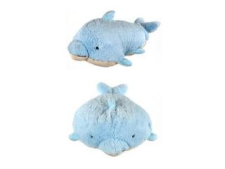 "My Plush Pillow Pet Large 18"" Square Squeaky Dolphin Plush Pillow"