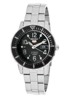 Seiko SRP197  Watches,Womens Seiko 5 Sports Automatic Black Dial Stainless Steel, Casual Seiko Automatic Watches